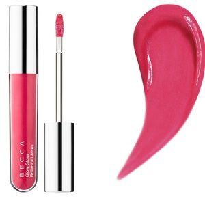 BECCA Glow LipGloss Snapdragon Rosy PinkGold Pearl